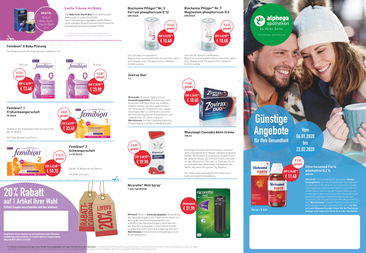 Aktuelle Angebote der alten Apotheke Bremen